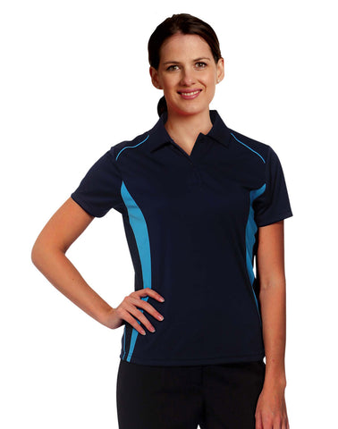 PS80 - Ladie's CoolDry® Short Sleeve Contrast Polo Winning Spirit