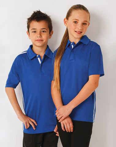 PS83K - Kids' RapidCool Short Sleeve Contrast Polo Winning Spirit