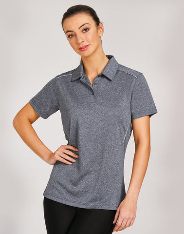 PS86 - Ladies RapidCool Cationic Short Sleeve Polo Winning Spirit