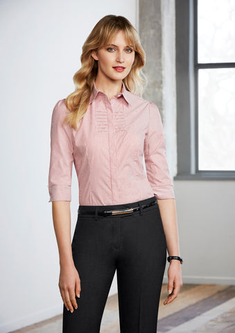 S121LT - Ladies Berlin 3/4 Sleeve Shirt Biz Collection