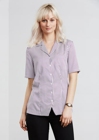 S266LS - Ladies Stripe Oasis Overblouse Biz Collection