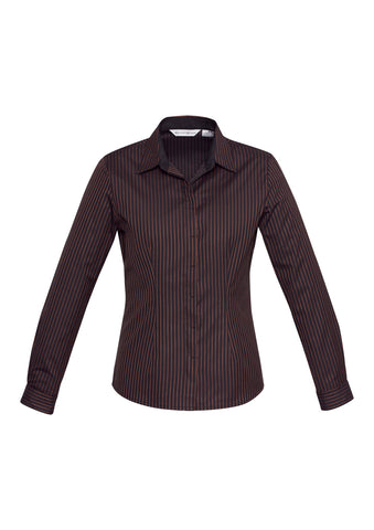Ladies Reno Stripe Long Sleeve Shirt S415LL