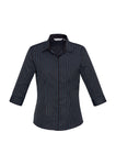 Ladies Reno Stripe 3/4 Sleeve Shirt S415LT