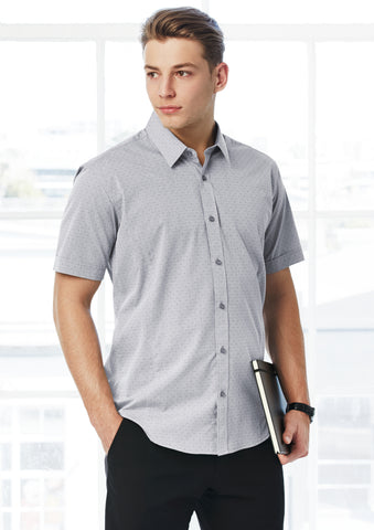 S622MS - Mens Trend Short Sleeve Shirt Biz Collection