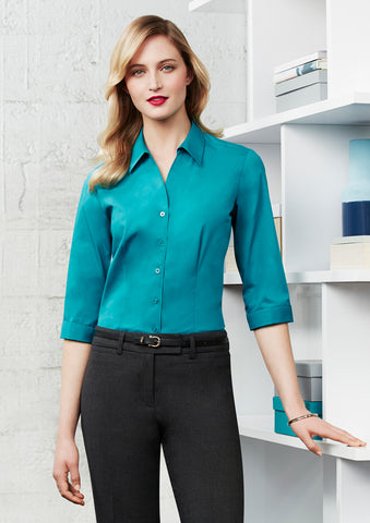 S770LT - Ladies Monaco 3/4 Sleeve Shirt Biz Collection
