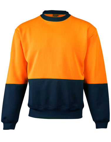 High Visibility Two Tone Crew Neck Safety Windcheater SW09