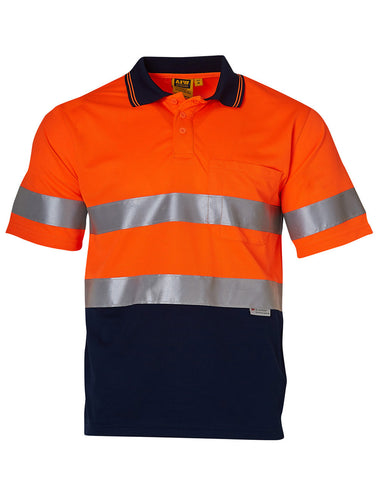High Visibility Short Sleeve Safety Polo 3M Reflective Tapes SW17A