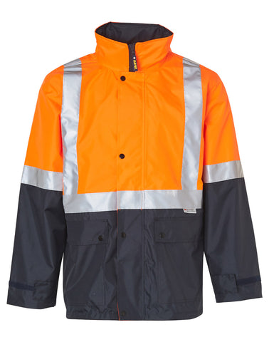 Hi-Vis Two Tone Rain Proof Safety Jacket With Mesh Lining and 3M Scotchlite Reflective Tapes SW18A