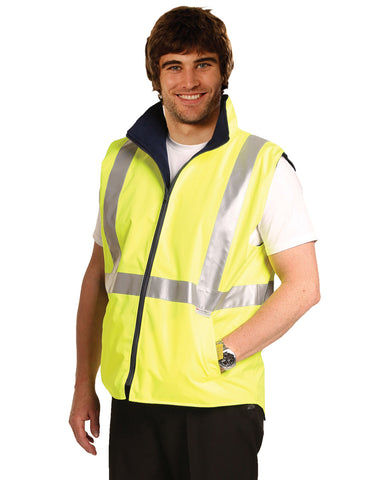 SW19A - High Visibility Two Tone Vest With 3M Reflective Tapes AIW