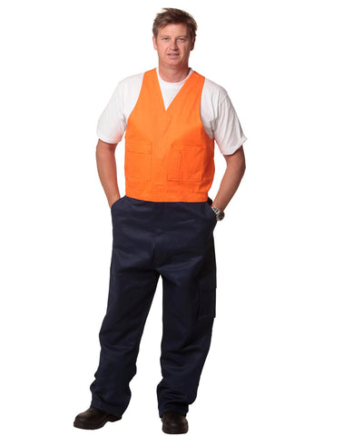 SW202 - Mens Action Back Overall in Heavy Cotton Pre-shrunk Drill AIW