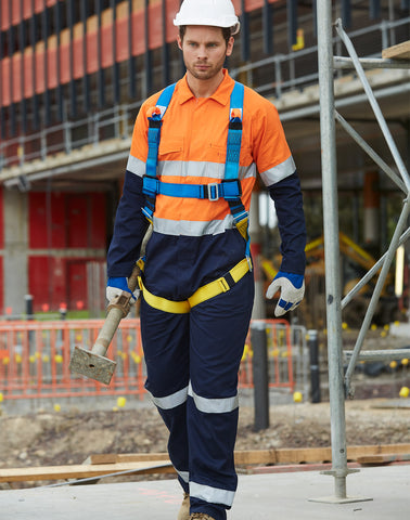 SW207 - Mens Cotton Drill Coverall with 3M Scotchlite Reflective Tapes AIW