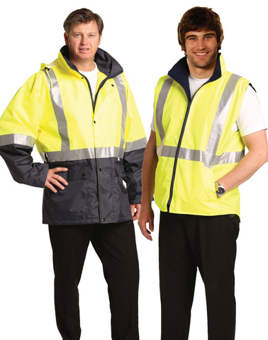 SW20A - Hi-Vis Three in One Safety Jacket with 3M Tapes  AIW