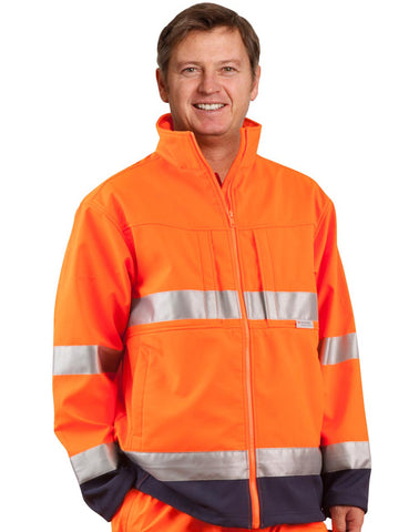 SW29 - High Visibility Two Tone Softshell Jacket with 3M Reflective Tapes AIW