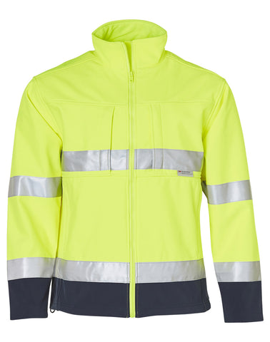 High Visibility Two Tone Softshell Jacket with 3M Reflective Tapes SW29
