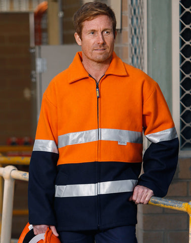 SW31A - Hi-Vis Two Tone Bluey Safety Jacket with 3M AIW