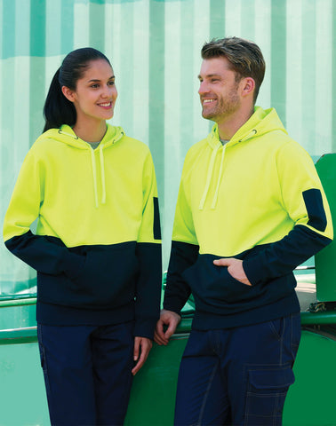 SW38 - Adults' Hi-Vis Two Tone Kangaroo Pocket Hoodie AIW