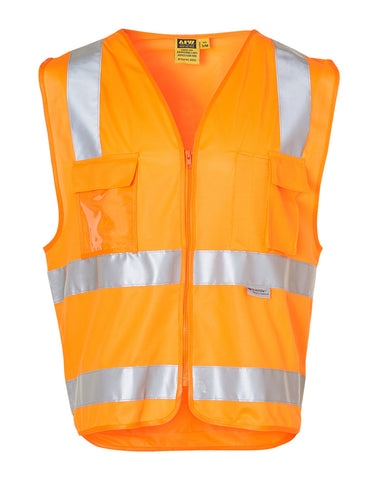 High Visibility Safety Vest with chest pockets and 3M Tapes SW42