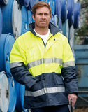 SW50 - Hi-Vis Long Line Safety Jacket With Polar Fleece Lining and 3M Reflective Tapes AIW