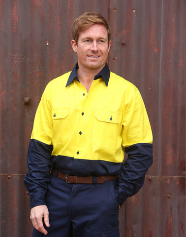 SW54 - High Visibility Long Sleeve Work Shirt AIW