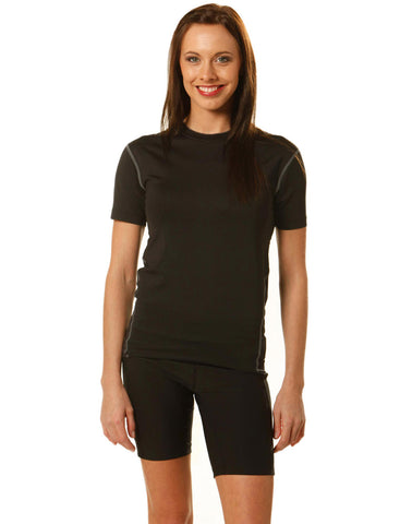 TS88 - Ladies Gym/Bike/Running/ Training Short Sleeve Top Winning Spirit