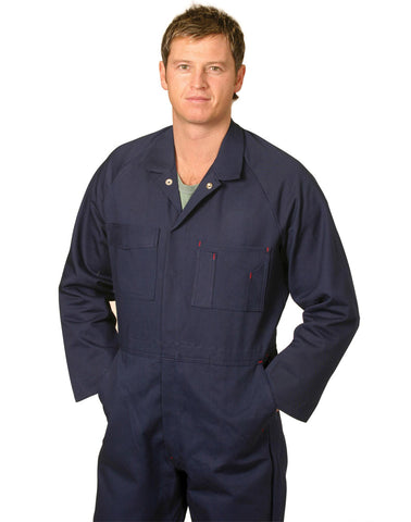 WA07 - Mens Cotton Drill Coverall AWS