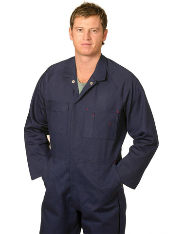 WA08 - Mens Cotton Drill Coverall AWS
