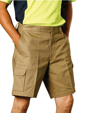 WP06 - Mens Heavy Cotton Pre-shrunk Cargo Shorts AWS