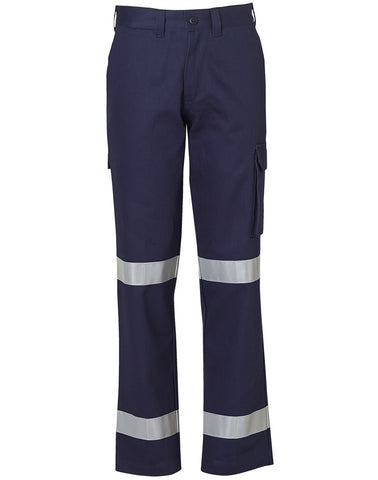 Ladies Heavy Cotton Pre-Shrunk Drill Pants with 3M Reflective Tape WP15HV