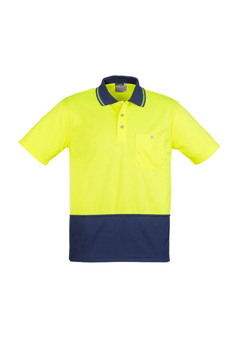Unisex Hi Vis Basic Spliced Polo - Short Sleeve ZH231