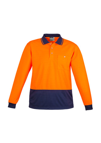 ZH232 - Unisex Hi Vis Basic Spliced Polo - Long Sleeve Syzmik