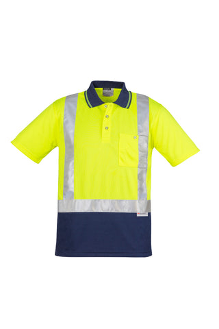 Mens Hi Vis Spliced Polo - Short Sleeve Shoulder Taped ZH233