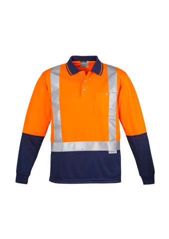 ZH234 - Mens Hi Vis Spliced Polo - Long Sleeve Shoulder Taped Syzmik