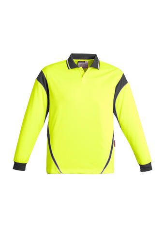 ZH249 - Mens Hi Vis Aztec Polo - Long Sleeve Syzmik