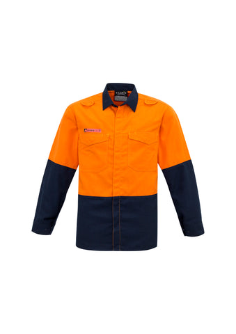 ZW138 - Mens Hi Vis Spliced Shirt Syzmik
