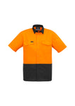 ZW815 - Mens Rugged Cooling Hi Vis Spliced S/S Shirt Syzmik