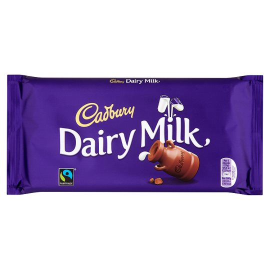 Tableta de chocolate Cadbury