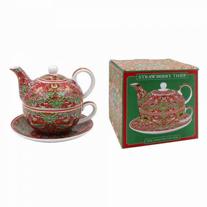 Tea for one diseño Strawberry Thief Red