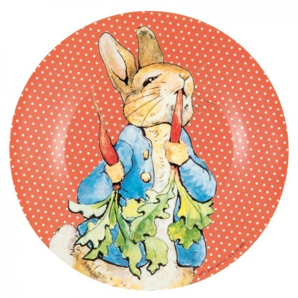 Plato de Peter Rabbit coral