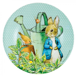 Plato de Peter Rabbit azul