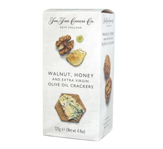Crackers de queso y nueces con aceite de oliva virgen extra