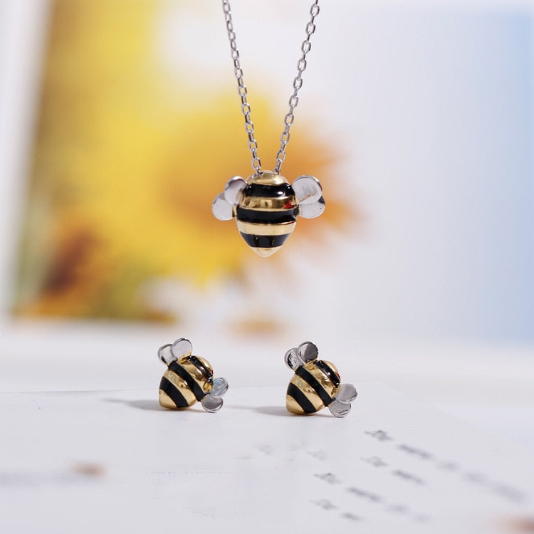 Damenschmuck Bee Collection-Halskette und Ohrringe