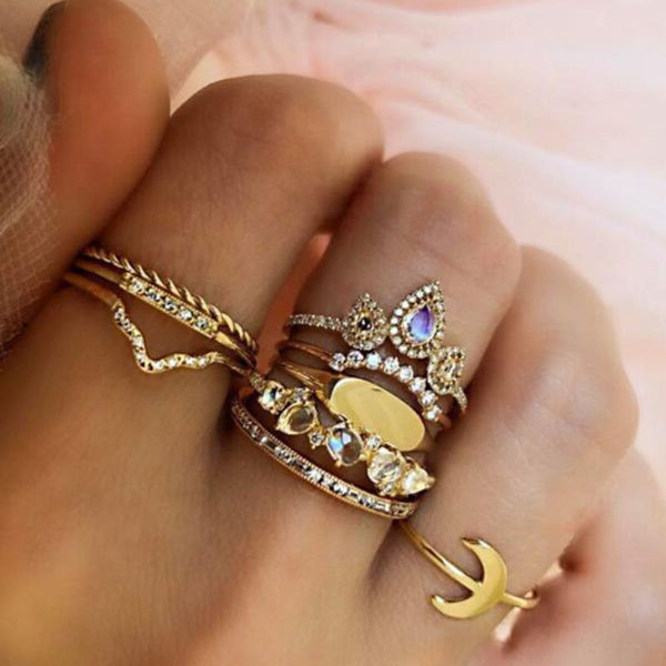Alloy Diamante Korean Holiday Rings