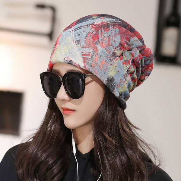 Cotton Skullies & Beanies Korean Floral Hats