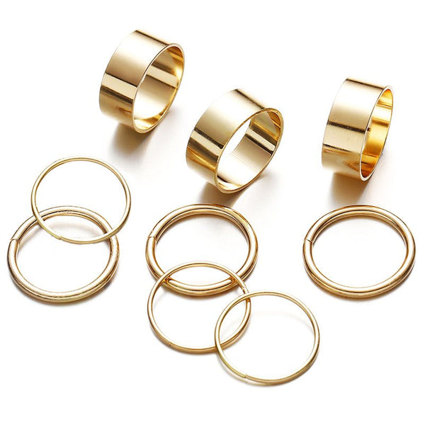 European E-Plating Alloy Birthday Rings