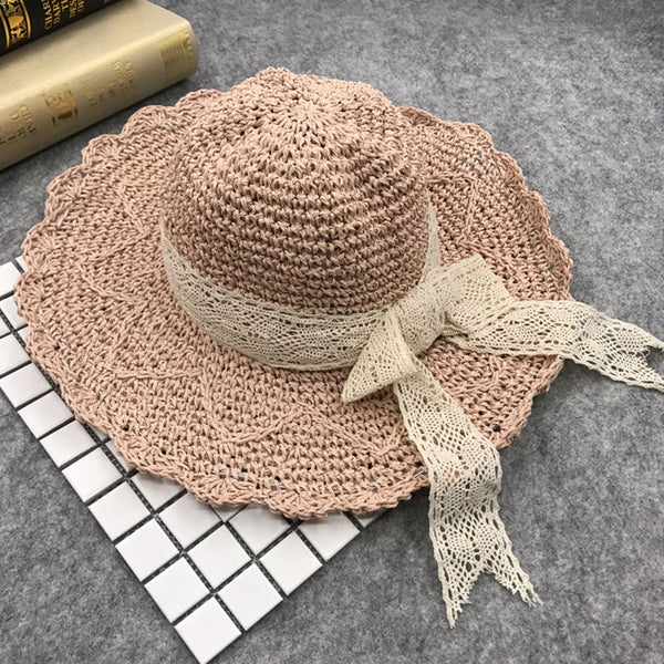 Korean Sun Hat Bowknot Summer Hats