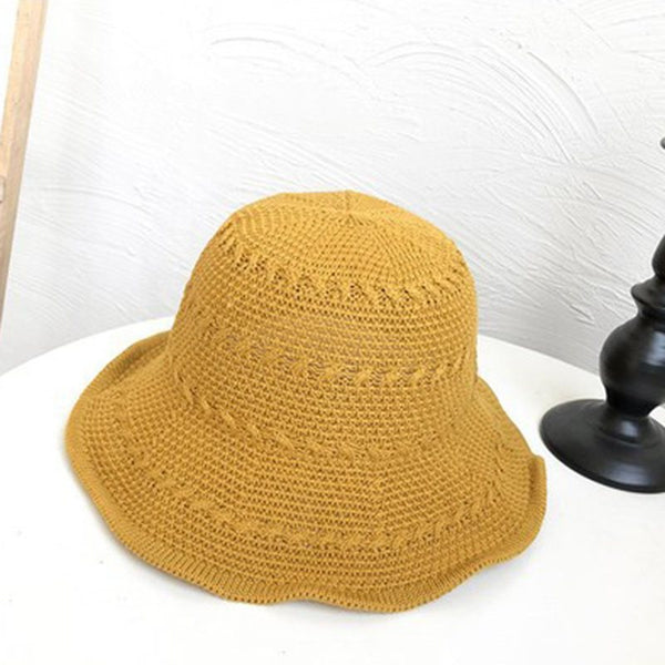 Knitted Hat Korean Woolen Yarn Summer Hats