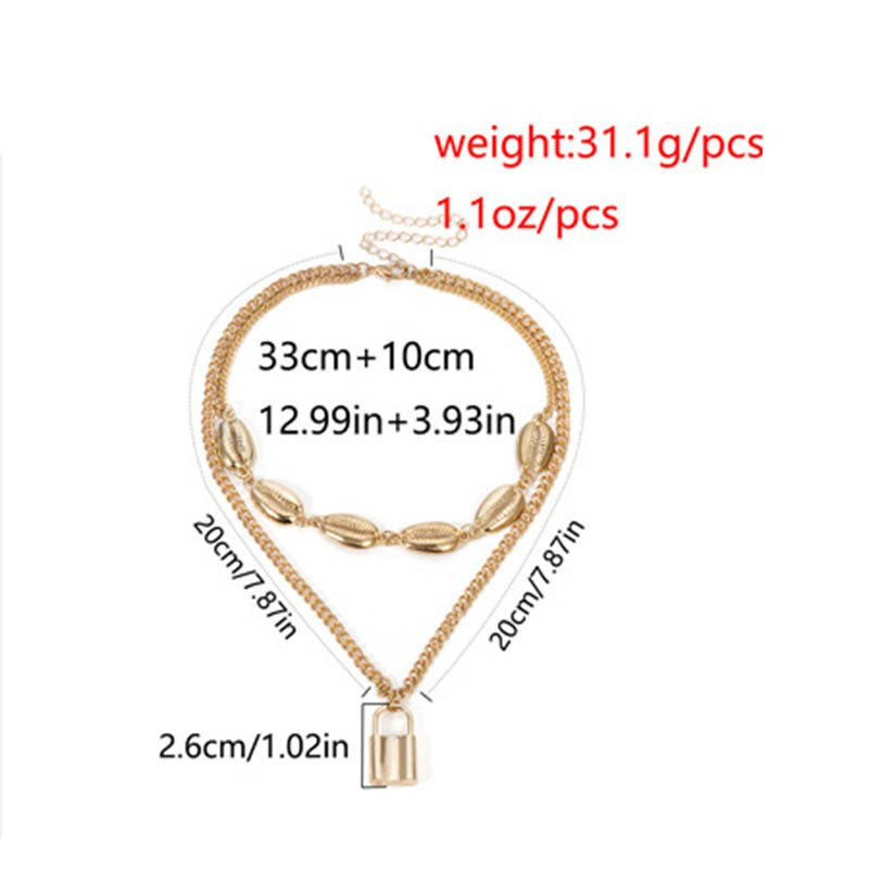 Plain Pendant Necklace European Female Necklaces
