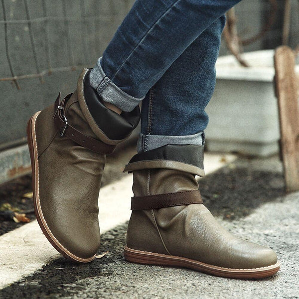 Round Toe Slip-On House Boots
