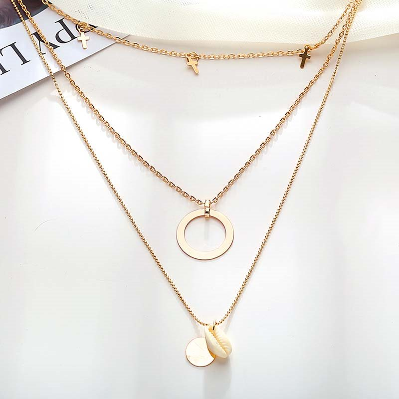 European Plain E-Plating Unisex Necklaces