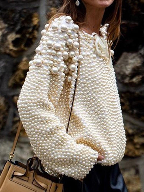 Bead Long Sleeve Spring Sweater